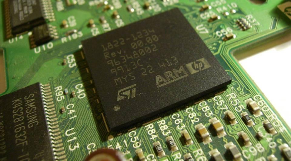 An ARM processor in a Hewlett-Packard printer.