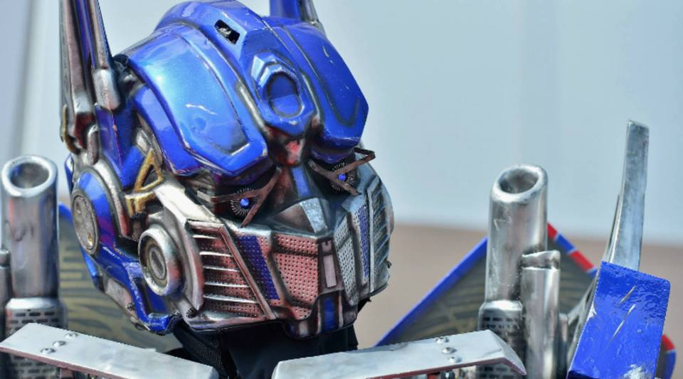 Optimus Prime attends the opening of a Transformers ride at Universal Orlando.