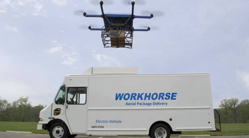 One of Workhorse's truck and drone combos.