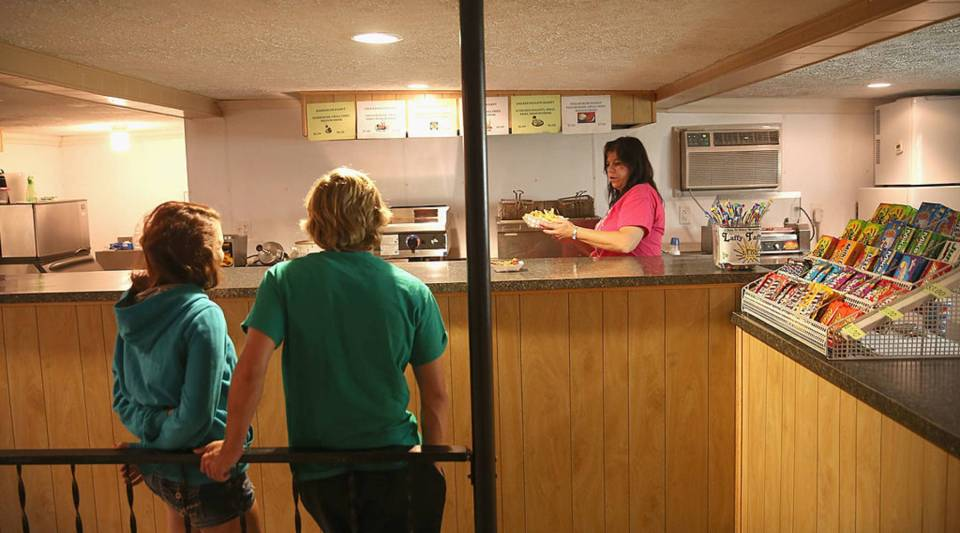 The concession stand at a drive-In theater on September 27, 2013 in Neligh, Nebraska.