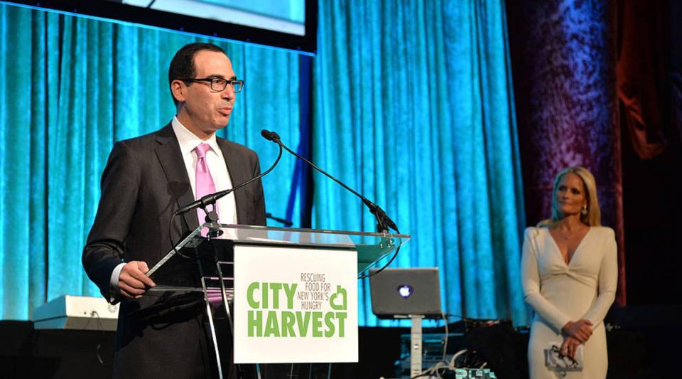 Steve Mnuchin speaks onstage at City Harvest: An Event Of Practical Magic on April 24, 2014 in New York City.
