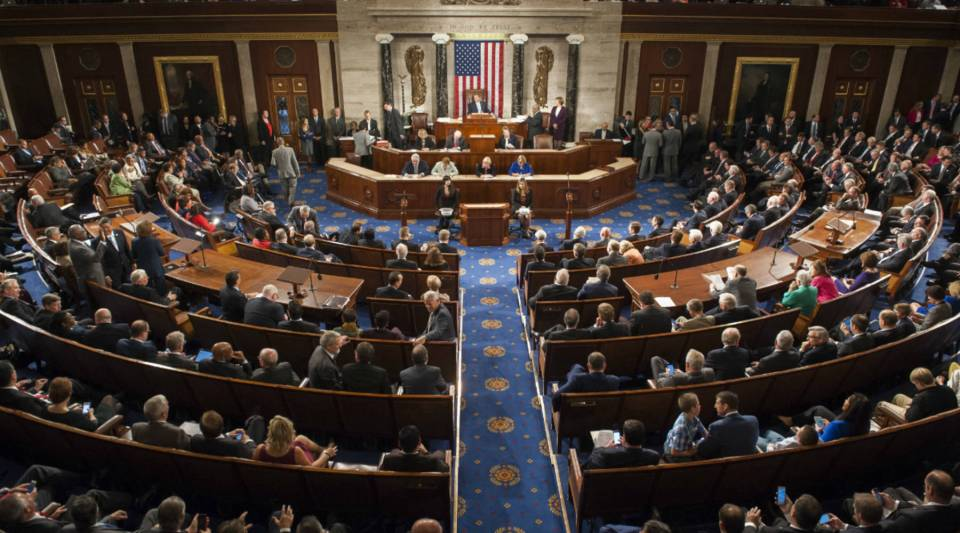 A view of the House of Representatives Chamber in Washington, D.C. in 2015. A Koch-backed group is spending millions in Ohio, Nevada and Pennsylvania — states that are key to maintaining a Republican-majority Congress.