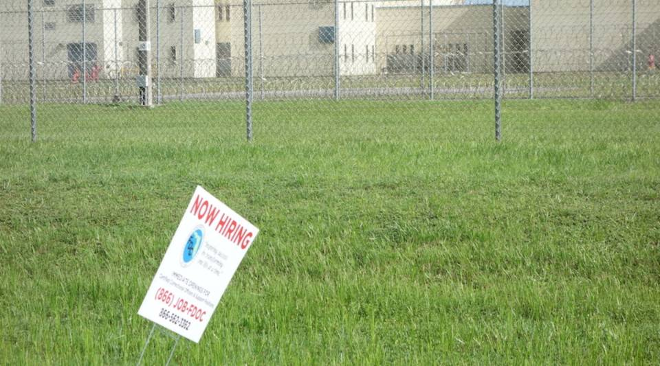 Signs posted around the perimeter of the Dade and Homestead prisons in south Florida advertise immediate openings for correctional officers. The state, like most, has a severe shortage of officers, leaving officers and inmates at risk.