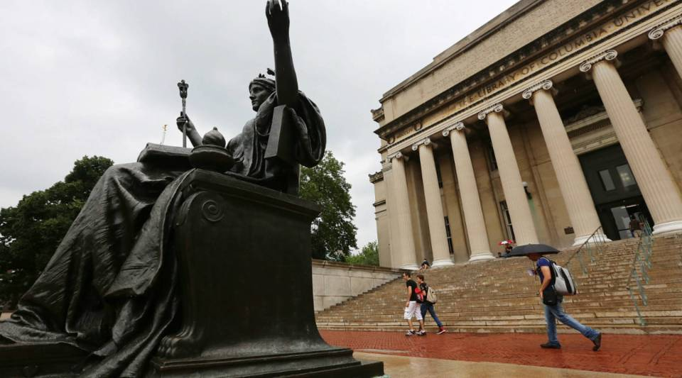 A view of Columbia University.