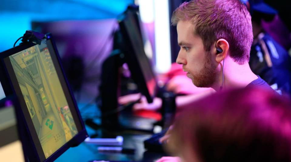 Competitors at an esports event in Atlanta.