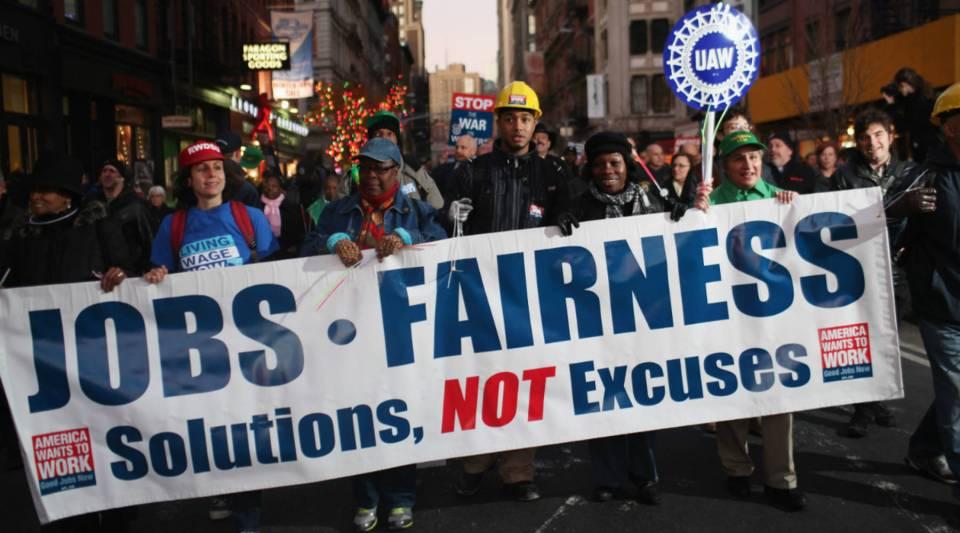 Unionization has fallen since the late '70s.