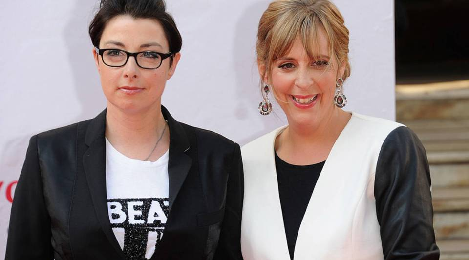 Sue Perkins and Mel Giedroyc, hosts of the Great British Bake Off.