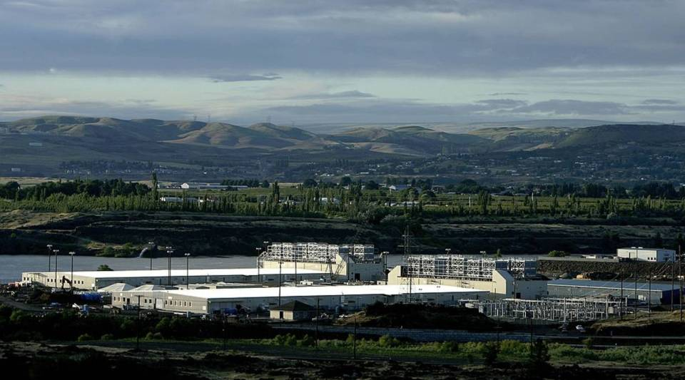 Google's two new computing centers are seen June 15, 2006 in The Dalles, Oregon. The centers, each the size of a football field, are located in the small Oregon town of 12,000, 80 miles east of Portland.