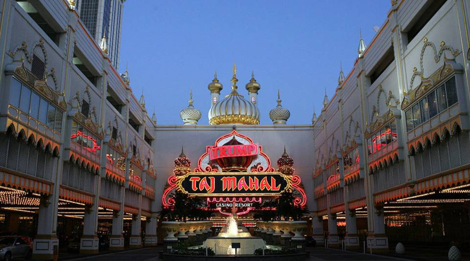The Trump Taj Mahal Hotel and Casino in Atlantic City, New Jersey.