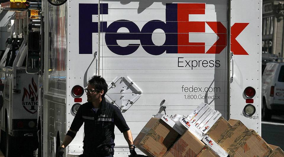 FedEx is trying to decrease its dependence on the postal service.