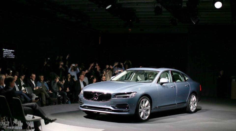 A view of the Volvo S90, which employs semi-autonomous features.