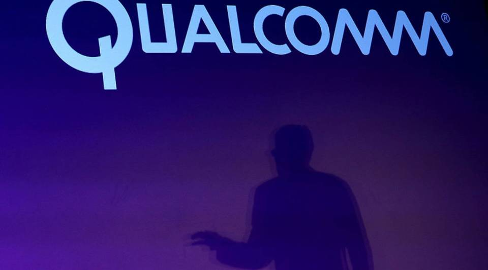 Qualcomm CEO Steve Mollenkopf speaks during a press event at the Mandalay Bay Convention Center for the 2014 International CES in Las Vegas, Nevada.