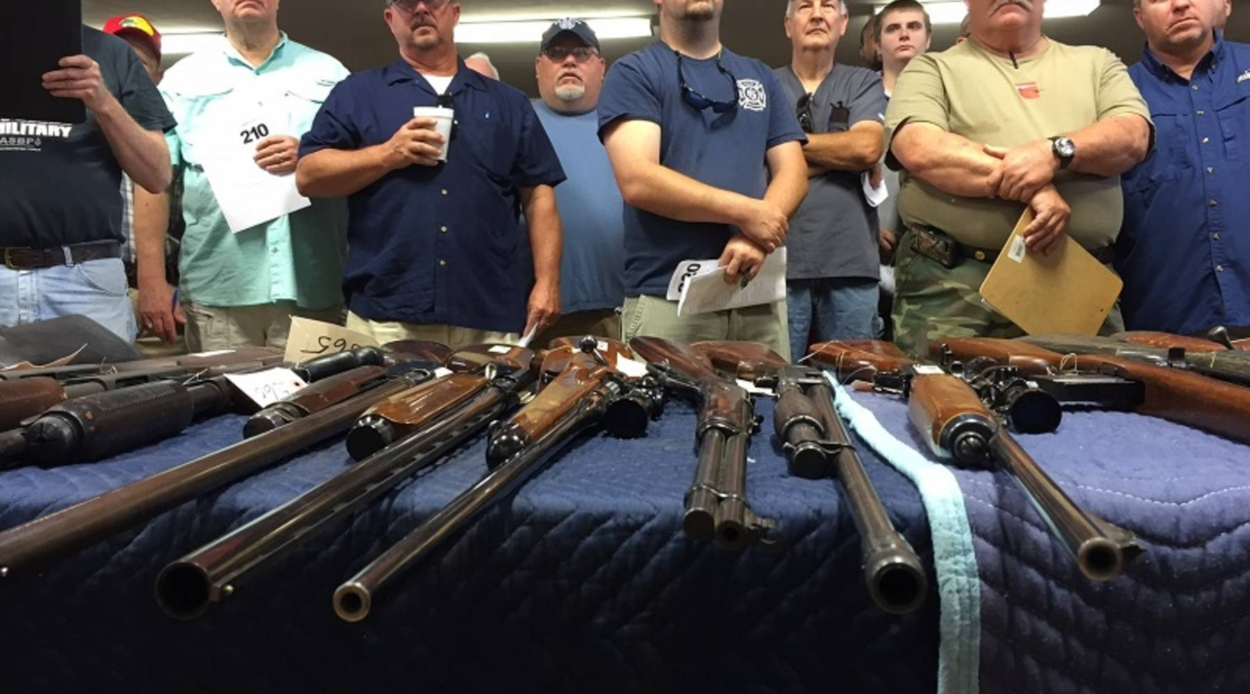 Law enforcement auctions guns that were confiscated in