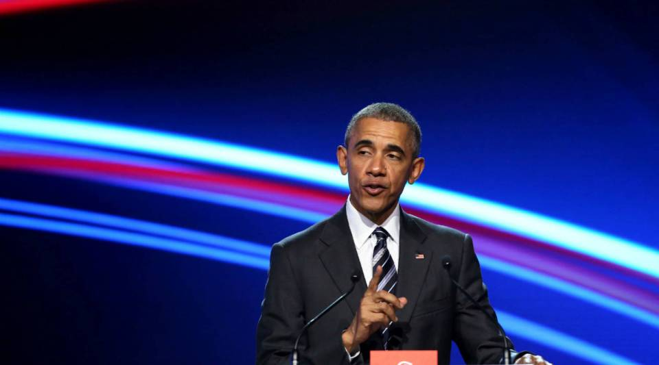 U.S. President Barack Obama visiting Germany in April of this year to make the case for the T-TIP.