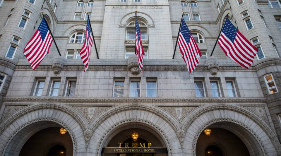 The Trump International Hotel pictured before its grand opening in Washington, D.C.