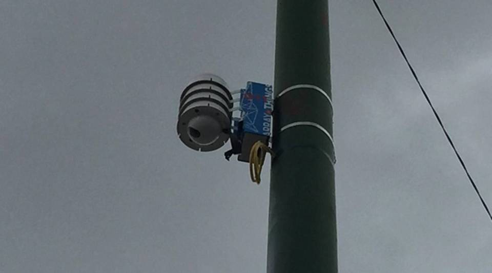 A sensor looks out on a busy intersection in Chicago's Southwest side.