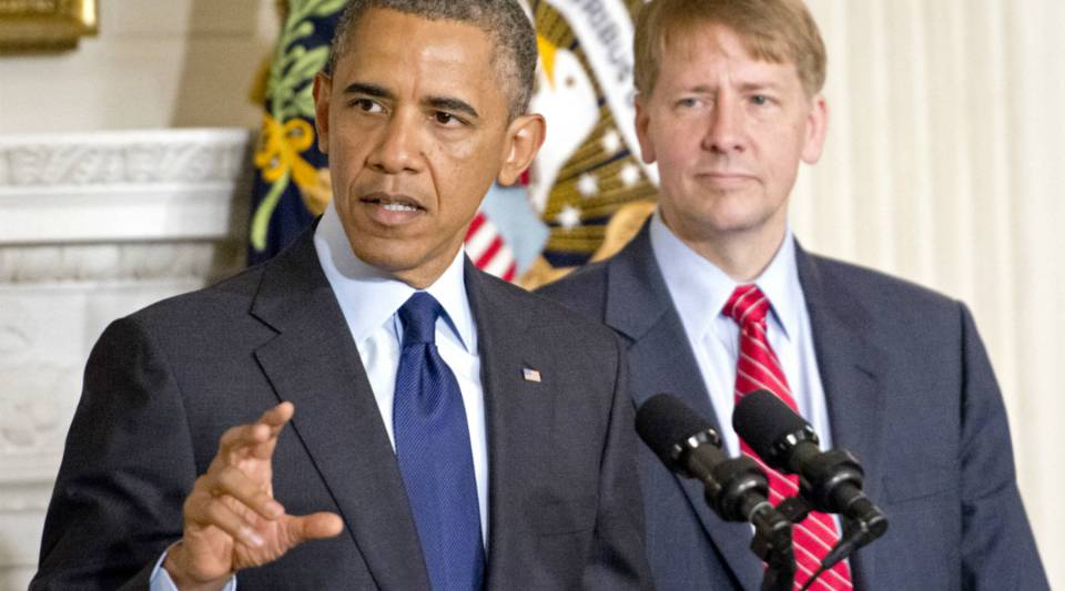 President Barack Obama delivers a statement on the confirmation of Richard Cordray as director of the Consumer Financial Protection Bureau.