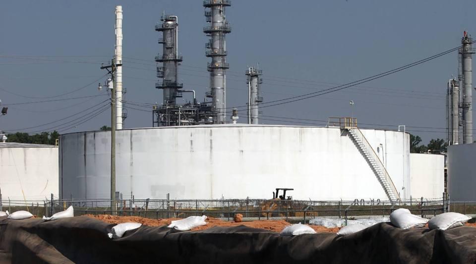 A crude oil refinery in Krotz Springs, Louisiana.