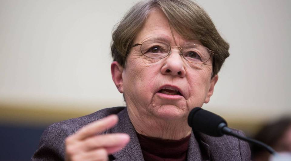 The SEC's Mary Jo White testifies during a House Financial Services Committee hearing on Capitol Hill on Tuesday in Washington, D.C.