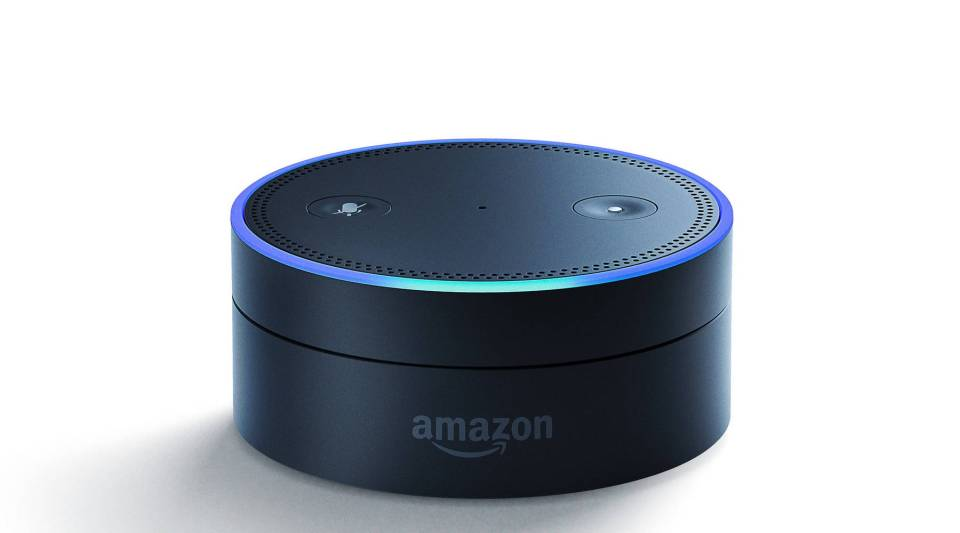 The Amazon Echo Dot uses voice activated technology.