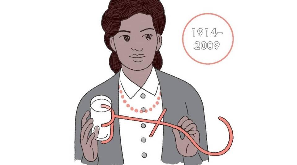 An illustration of Bessie Blount Griffin, American nurse and inventor.