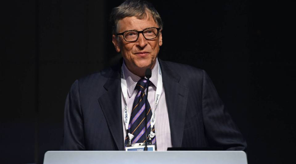Bill Gates speaks during Forbes' Philanthropy Summit Awards dinner last year in New York City.