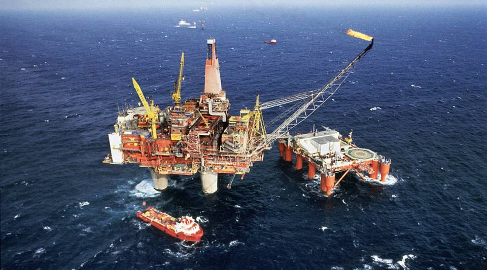 Oil rig in the Atlantic.