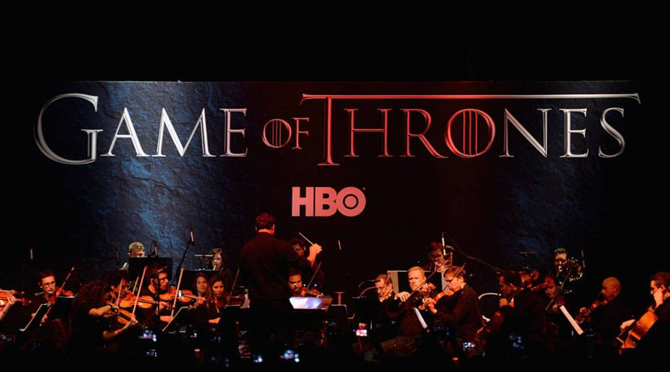A full orchestra performs during the announcement of the Game of Thrones® Live Concert Experience featuring composer Ramin Djawadi at the Hollywood Palladium on August 8, 2016 in Los Angeles, California.