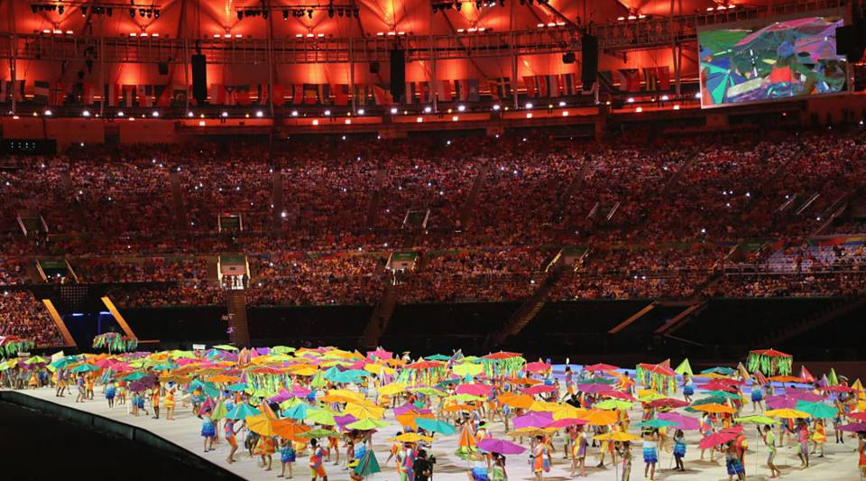 Artists perform during the Opening Ceremony of the Rio 2016 Paralympic Games at Maracana Stadium on September 7, 2016 in Rio de Janeiro, Brazil.