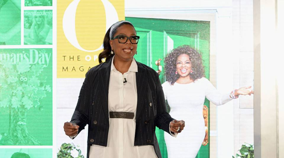 Oprah Winfrey speaks onstage at Hearst MagFront 2016 at Hearst Tower on Oct. 25 in New York City.