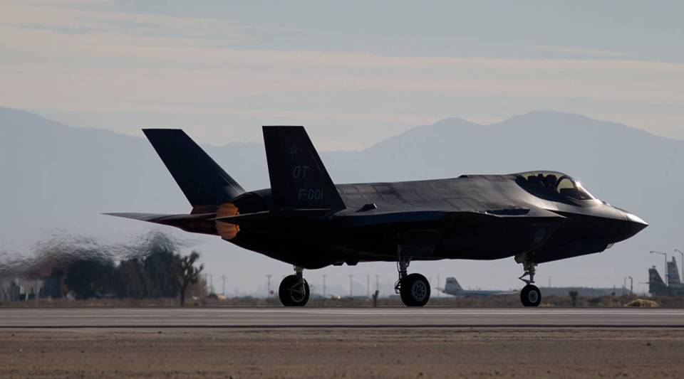 A Dutch Lockheed Martin F-35 Lightning II fighter jet takes off at Edwards Air Force Base, California, on November 24, 2015. President-elect Trump has voiced his concerns over the costs of the Joint Strike Fighter program on his Twitter account.