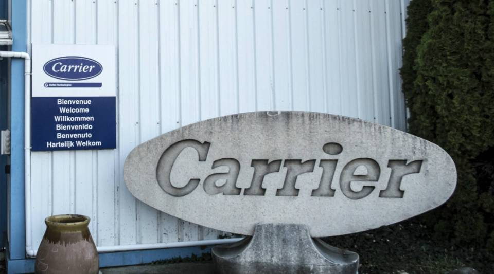 A view of a Carrier factory in France. Donald Trump recently struck a deal with Carrier that would keep some 1,000 jobs in Indiana.