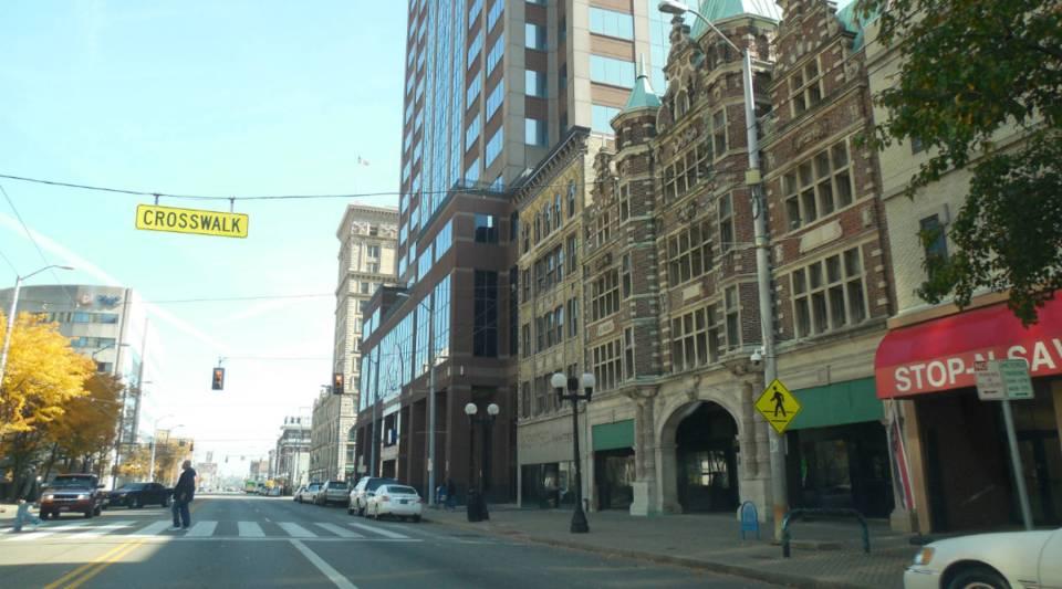 A view of Dayton, Ohio.
