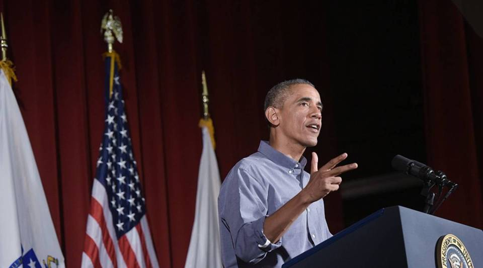 President Barack Obama addresses the Greater Boston Labor Council last September. During that month, Obama first signed an executive order that would give the employees of federal contractors paid sick leave.