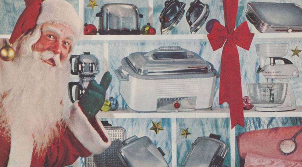 A holiday advertisement for Westinghouse, 1950s. Reproduced with permission.