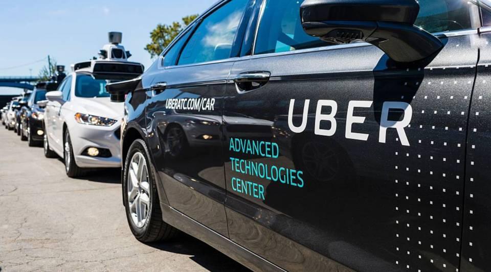 Pilot models of Uber self-driving cars.