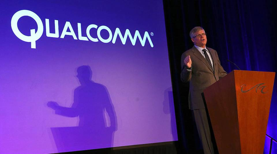 Qualcomm CEO Steve Mollenkopf speaks during a press event at the Mandalay Bay Convention Center for the 2014 International CES on January 6, 2014 in Las Vegas, Nevada.