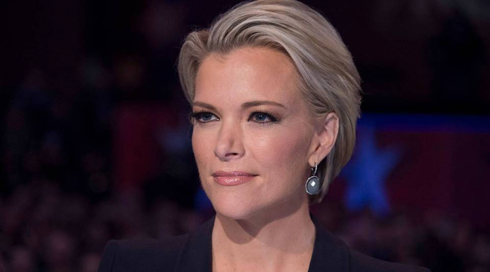 Megyn Kelly looks on during the Republican Presidential debate sponsored by Fox News at the Iowa Events Center in Des Moines, Iowa on January 28, 2016.