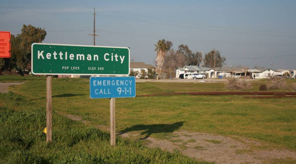 Kettleman City, California, is between Los Angeles and Sacramento. The state supplies residents with bottled water because tests showed high levels of arsenic in the drinking water.