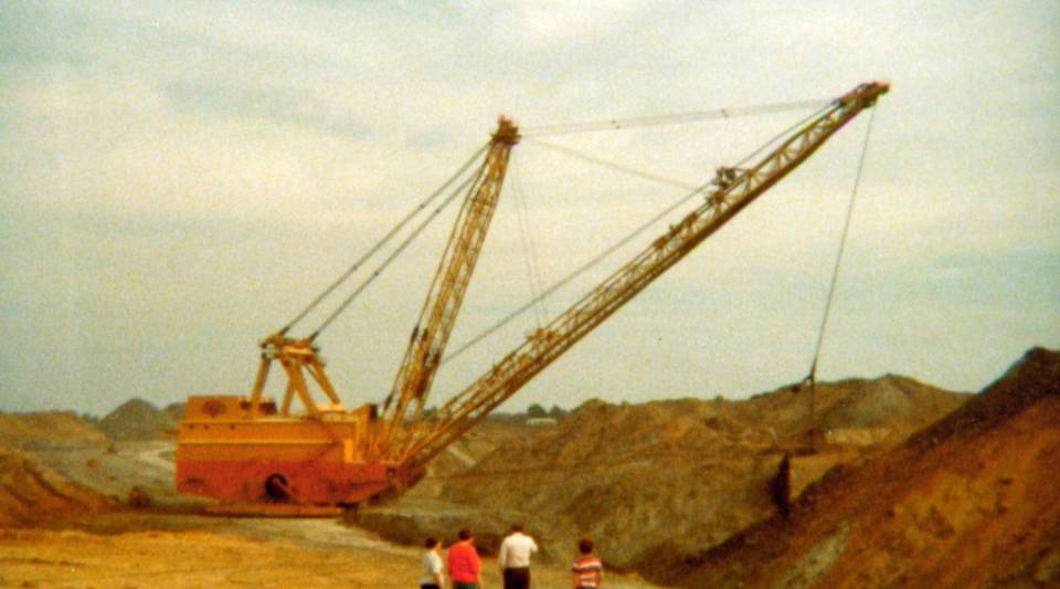 Mining taking place in Southern Illinois.