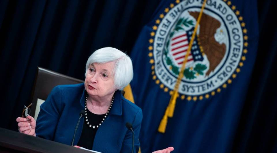 """Rising wages are """"a signal that we're coming closer to our maximum employment objectives,"""" Federal Reserve Chair Janet Yellen said at a briefing yesterday."""