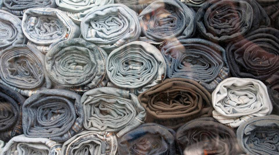 According to the Labor Department, there are just over 100,000 people who work in textiles now and there are just three mills making denim in the U.S.