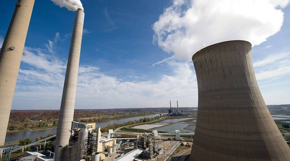 """""""The switch from coal to gas really happened because of the shale gas revolution and because of markets,"""" said Laura Cozzi of the International Energy Agency. Above, a coal power plant from American Electric Power in New Haven, West Virginia."""