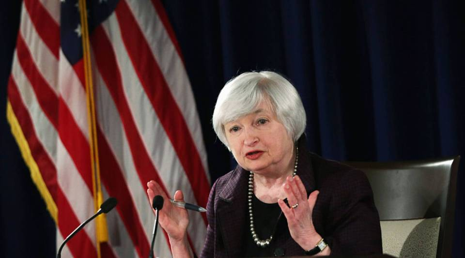 Federal Reserve Board Chair Janet Yellen speaks at a news conference. The better-than-expected jobs numbers give the Fed another reason to raise interest rates.