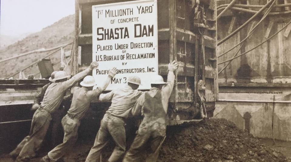 Men from all over the United States came to Northern California to find work at Shasta Dam. Construction lasted seven years, from 1938-1945.