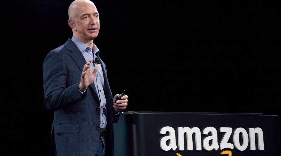 """Amazon has won the rights to stream """"Thursday Night Football"""" for the upcoming NFL season. Above, founder and CEO Jeff Bezos."""