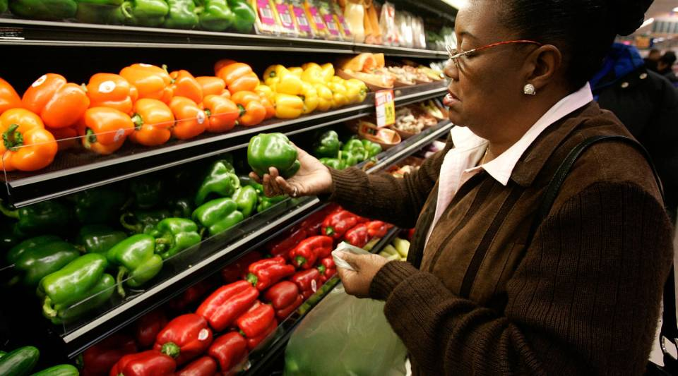 Kathy Curry of New Orleans buys bell peppers to stuff, a signature New Orleans dish. The USDA says the rise in pepper demand is due in part to a wider range of recipes calling for them.