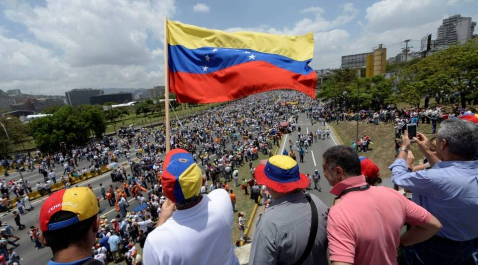 Venezuelans protest the government of President Nicolas Maduro last week in Caracas.