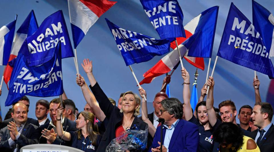 One of the most unpredictable French elections is being closely fought, with National Front leader Marine Le Pen promising to protect the electorate from globalization.