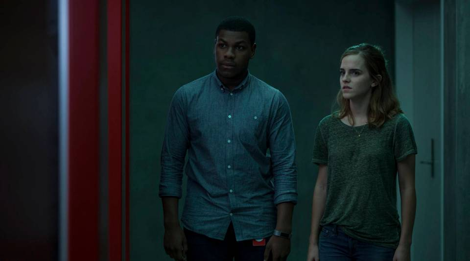 "John Boyega and Emma Watson star in the film adaptation of Dave Eggers' ""The Circle."""